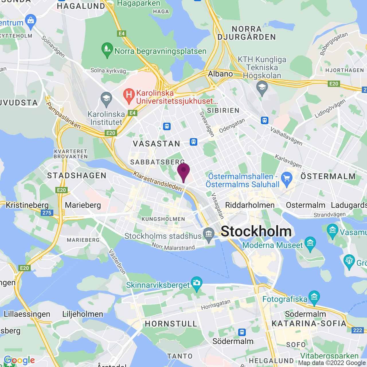 Map of Torsgatan 26
