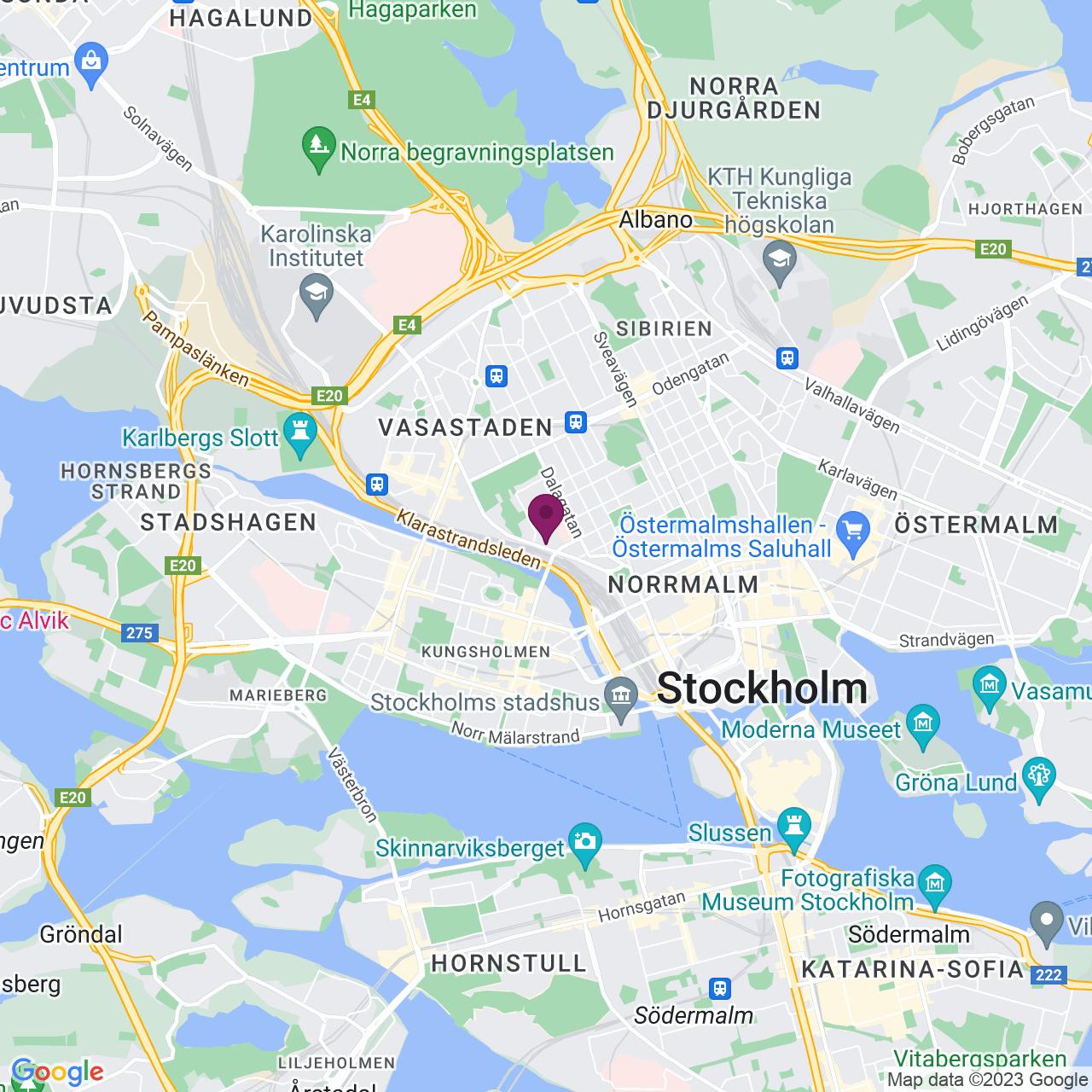Karta över Torsgatan 26