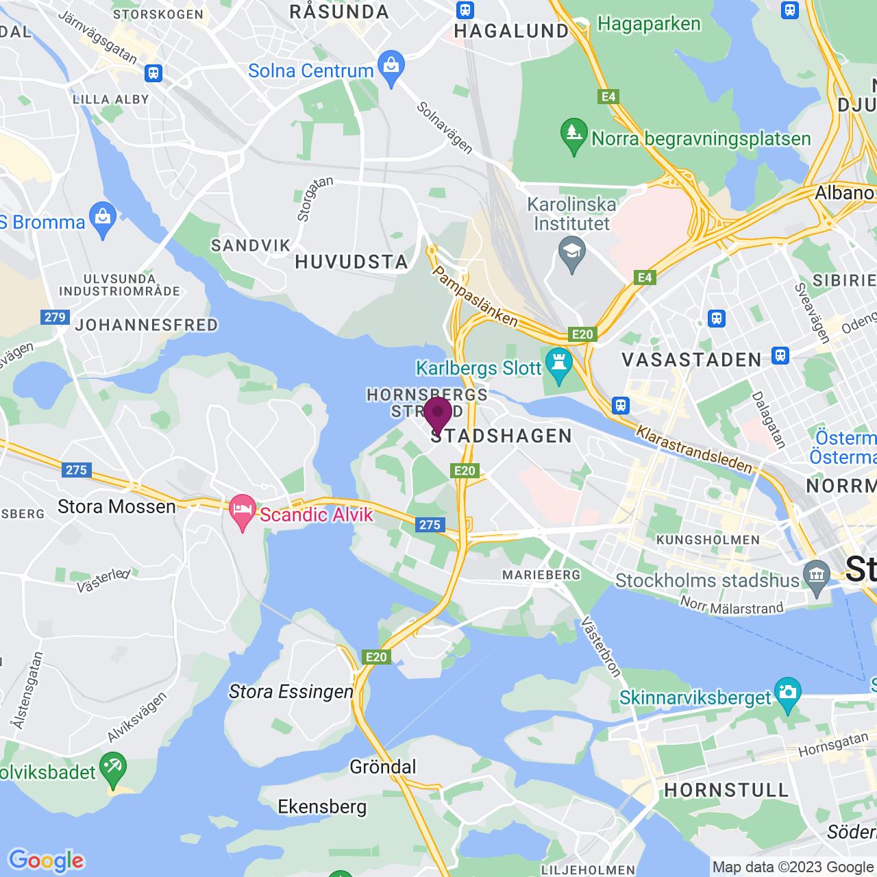 Karta över Lindhagensgatan 133