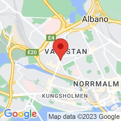 Map showing Kaffeverket