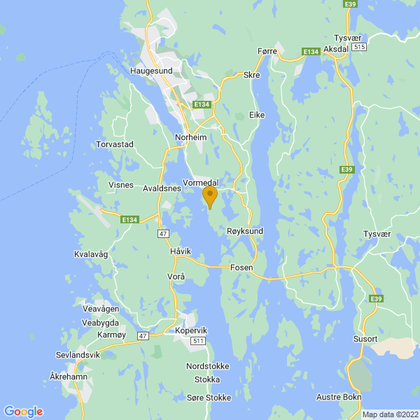 Google Map of 59.34392039999999,5.325505300000032