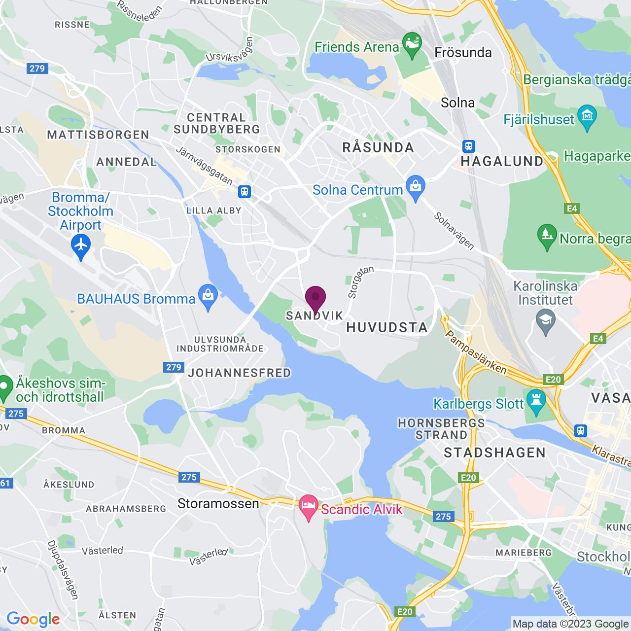 Map of Anderstorpsvägen 22