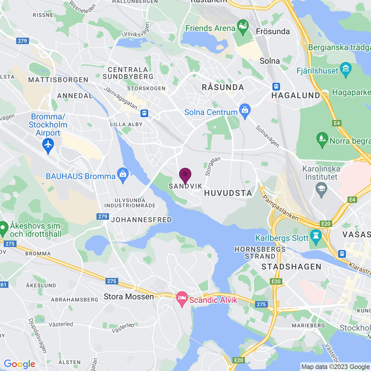 Karta över Anderstorpsvägen 20-22