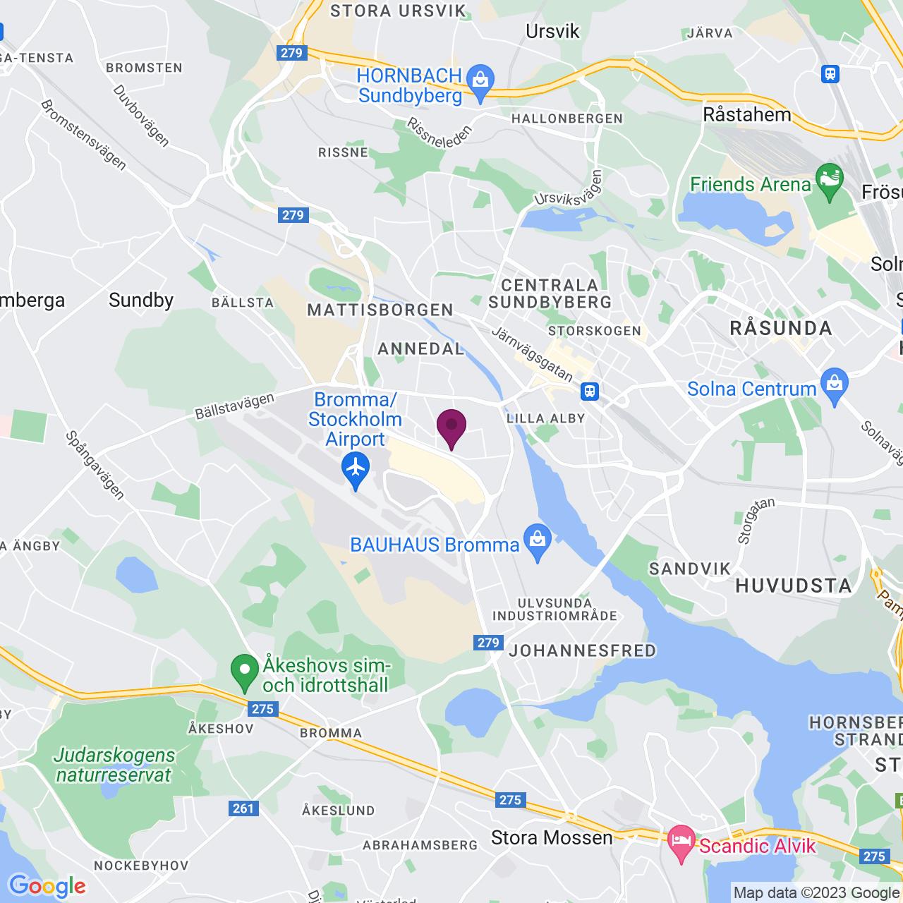 Karta över Gårdsfogdevägen 16