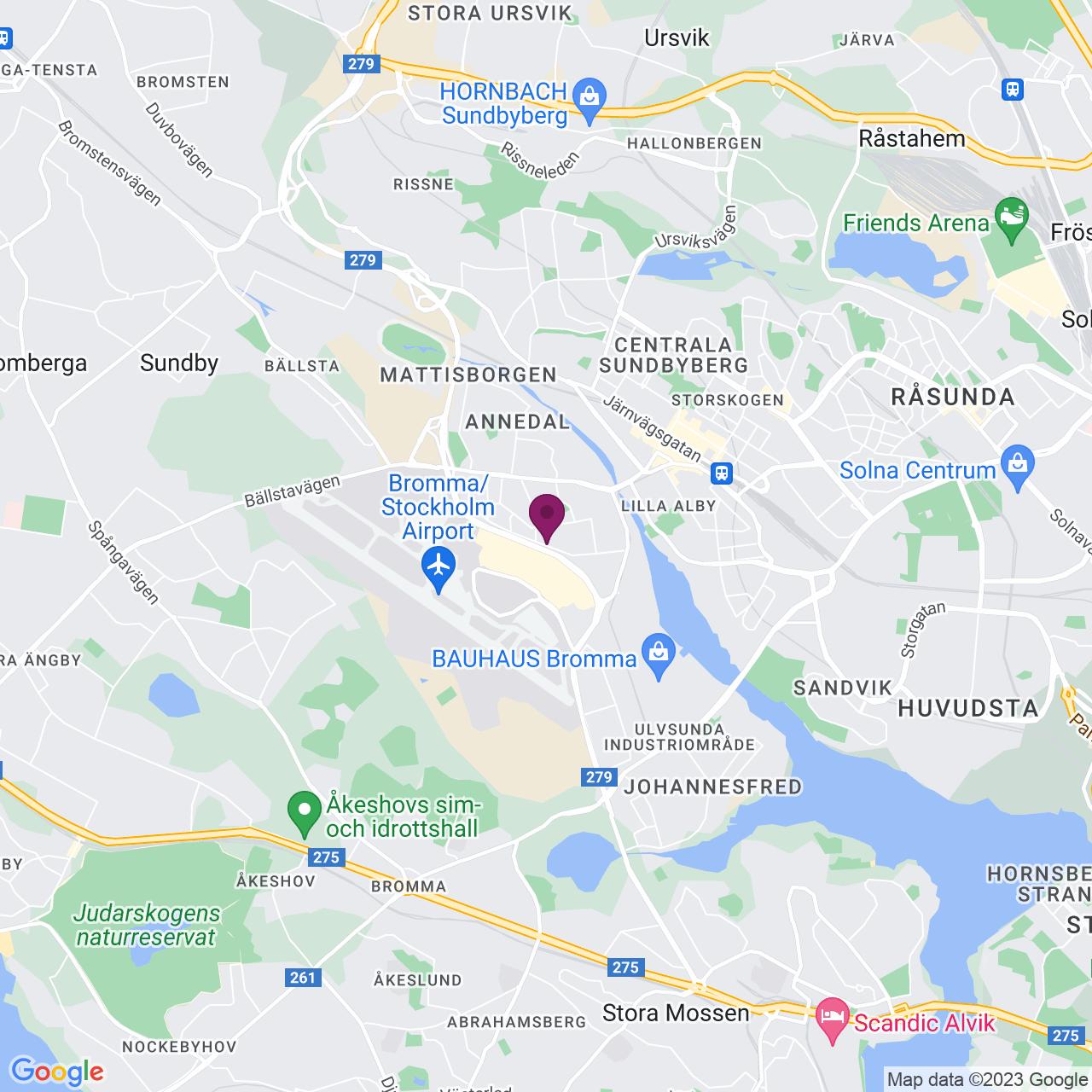 Karta över Gårdsfogdevägen 18 a