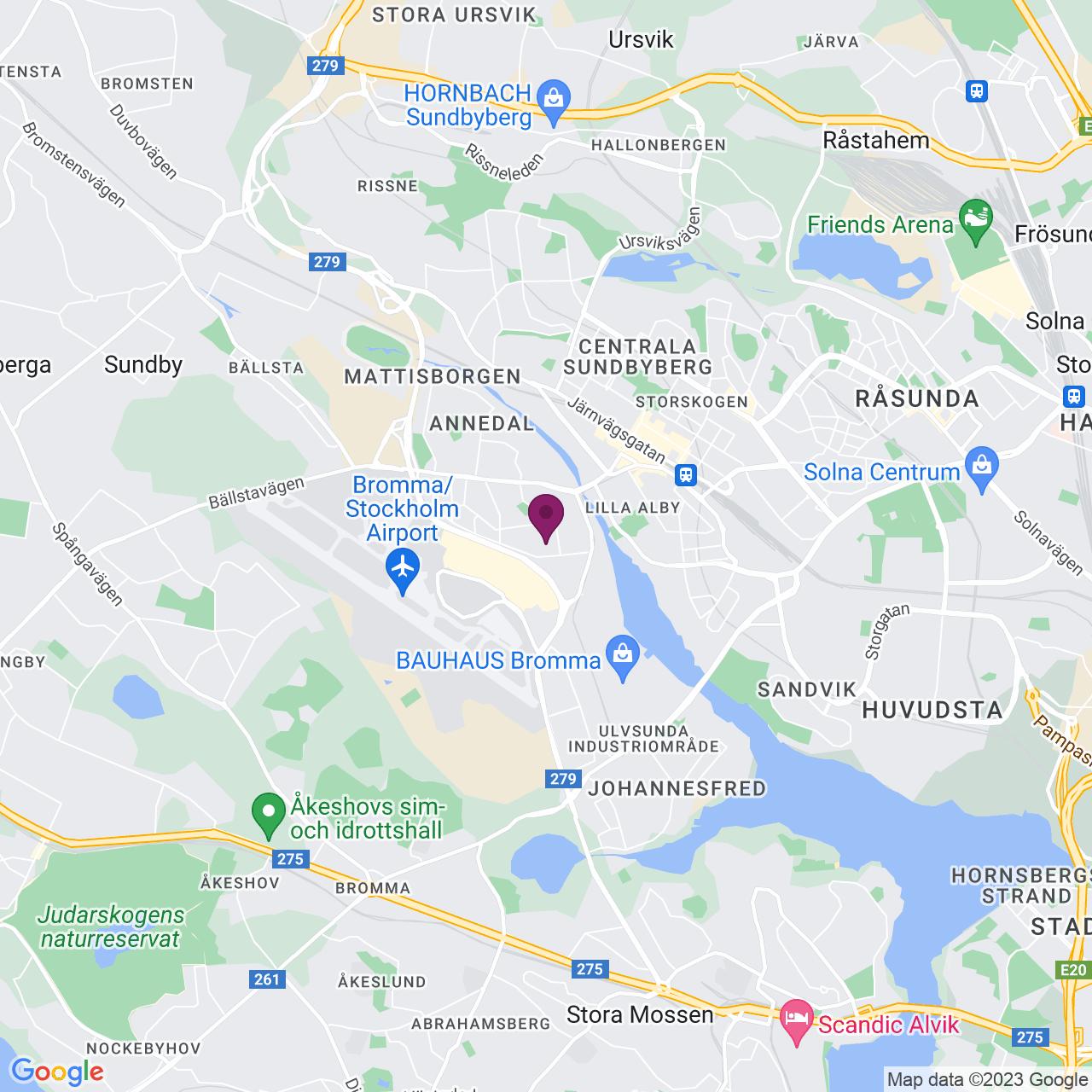 Karta över Archimedesvägen 1-3
