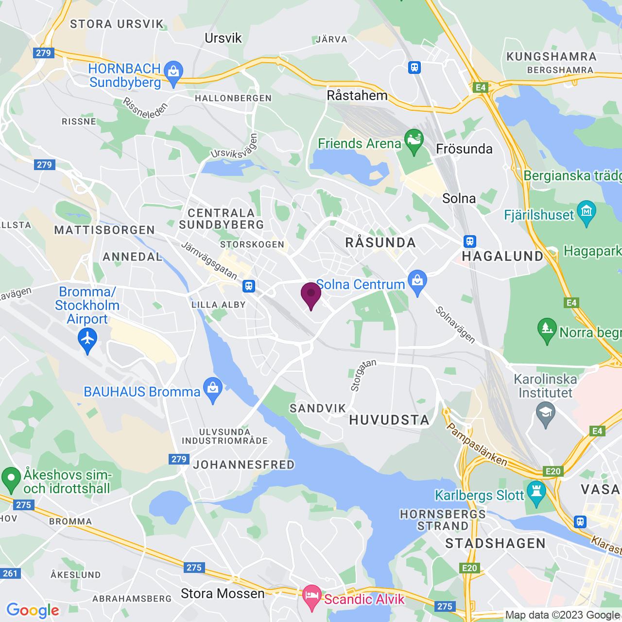 Karta över Smidesvägen 12