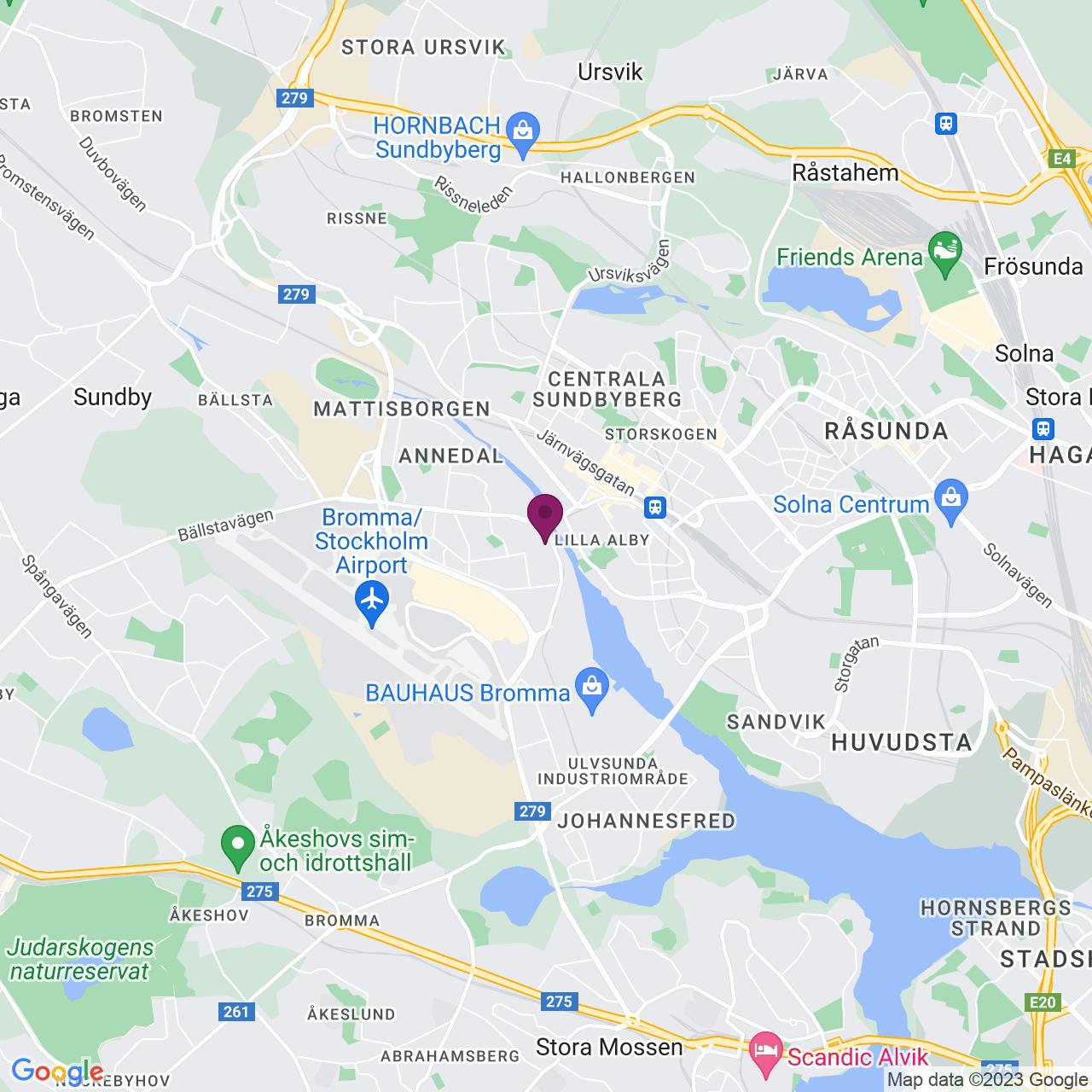Karta över Karlsbodavägen 39