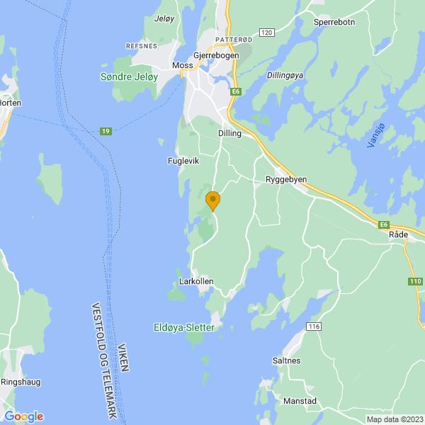 Google Map of 59.36281703812484,10.684464111528817