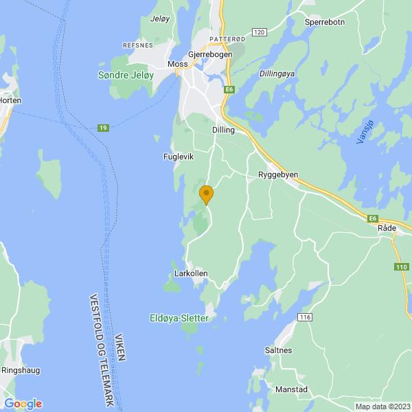 Google Map of 59.3634279,10.6836737
