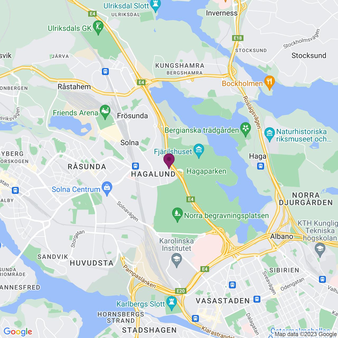 Kort över Frösundaleden 2