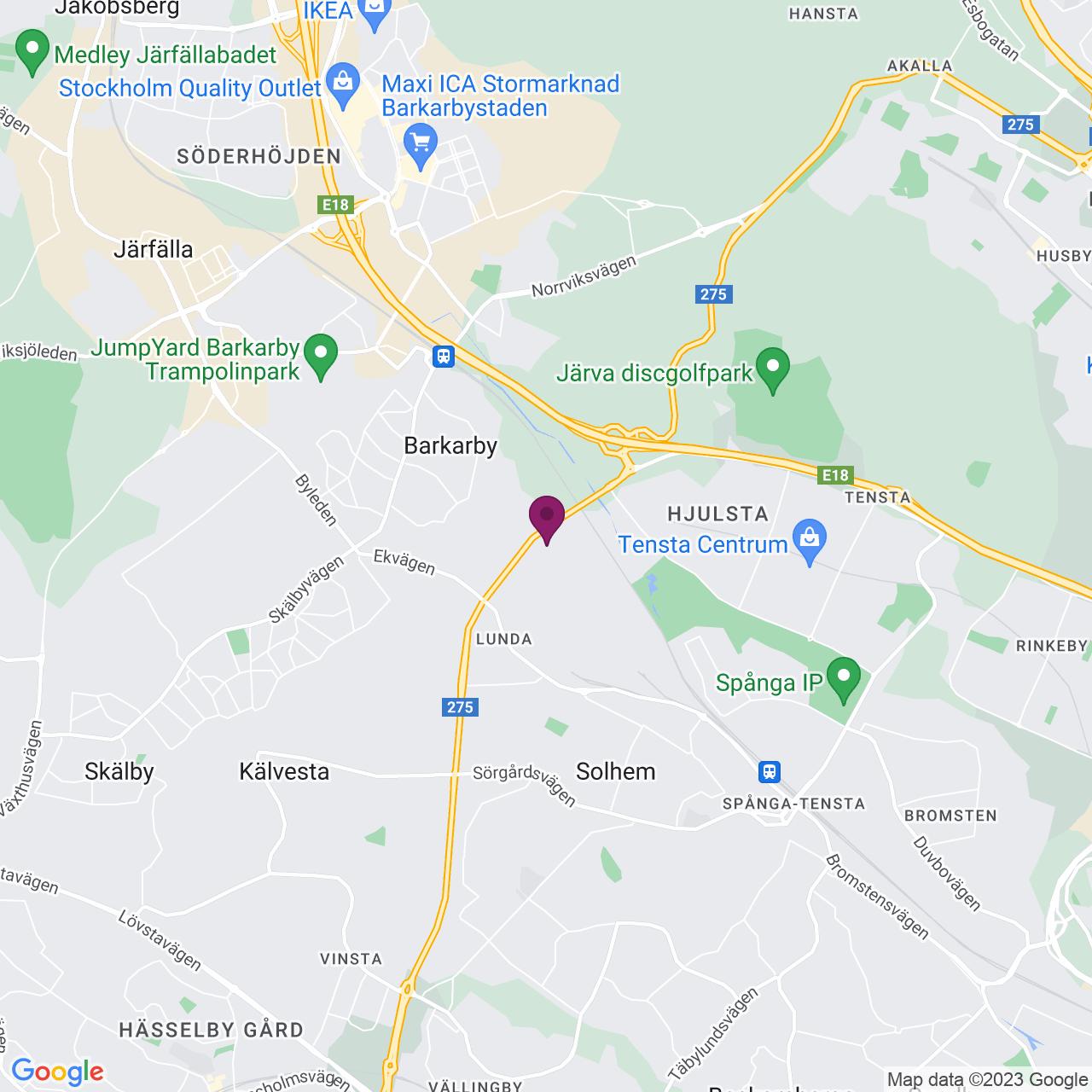 Kort över Domnarvsgatan 27