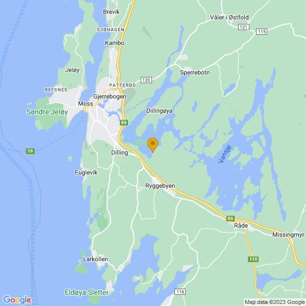 Google Map of 59.4019362,10.7456627