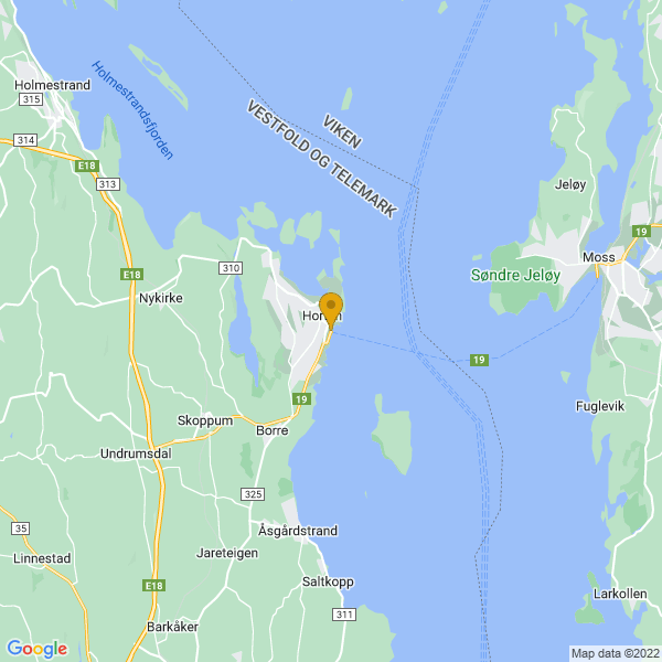 Google Map of 59.412241035992935,10.488802035603854