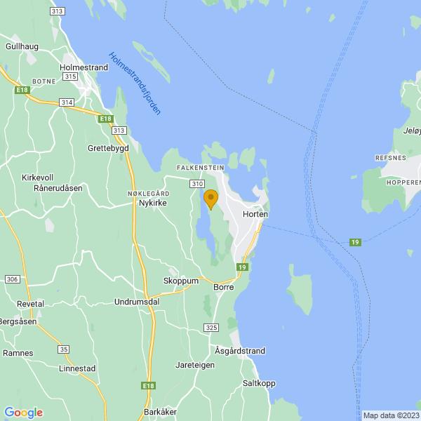 Google Map of 59.41899304501555,10.439375518637235