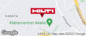 Få vägbeskrivning till Hilti-butik Kista