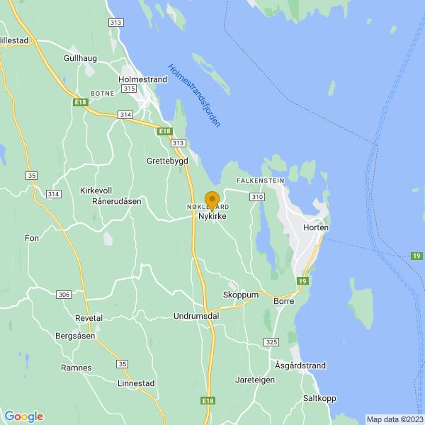 Google Map of 59.42463180000001,10.3827435