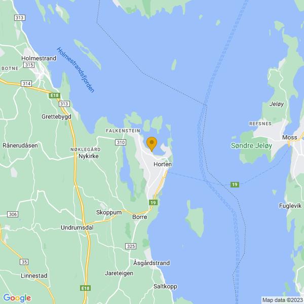 Google Map of 59.42545289999999,10.4682792