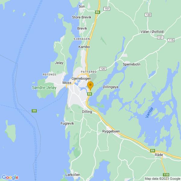 Google Map of 59.4265384,10.7086006