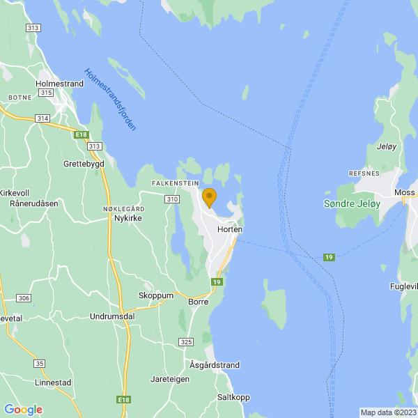 Google Map of 59.4271645,10.4626283