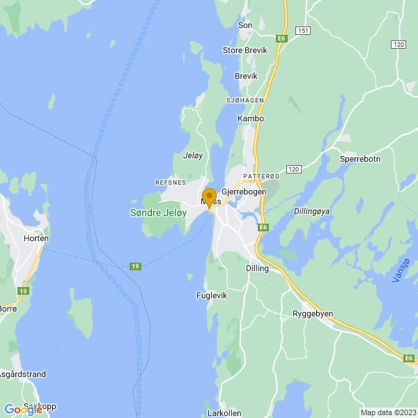 Google Map of 59.43188823579971,10.653637820505256
