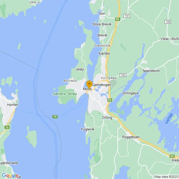 Google Map of 59.43493489999999,10.6601686