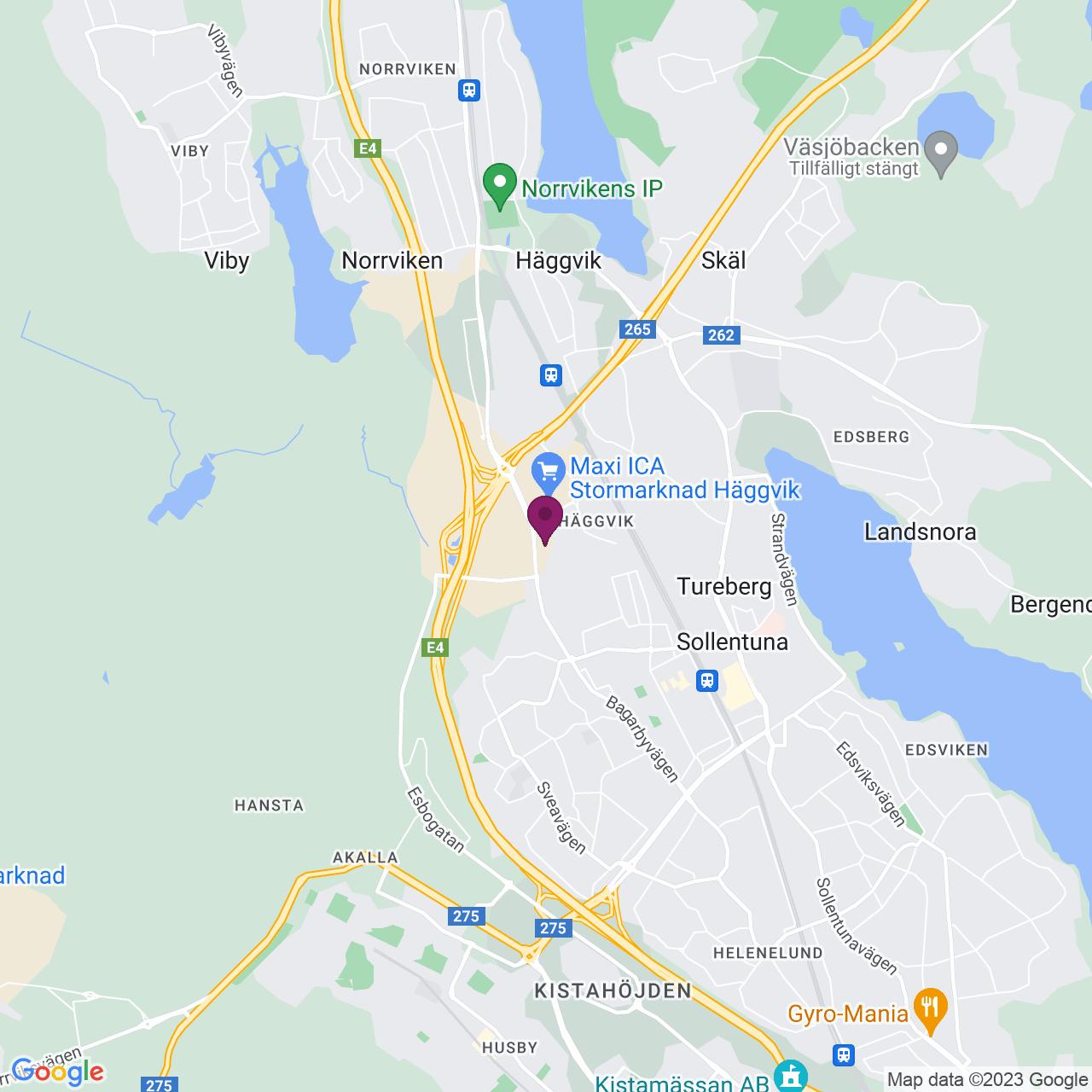 Karta över Kuskvägen 2