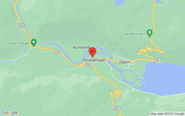 Kart over Tokke kulturhus
