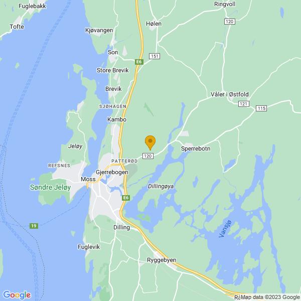 Google Map of 59.45565343801116,10.740474988538608