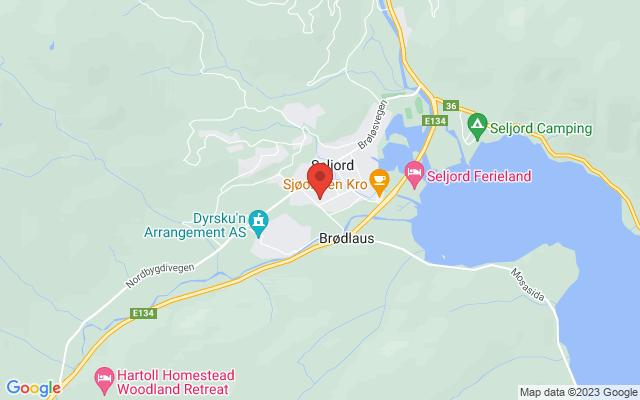Kart over Granvin Kulturhus