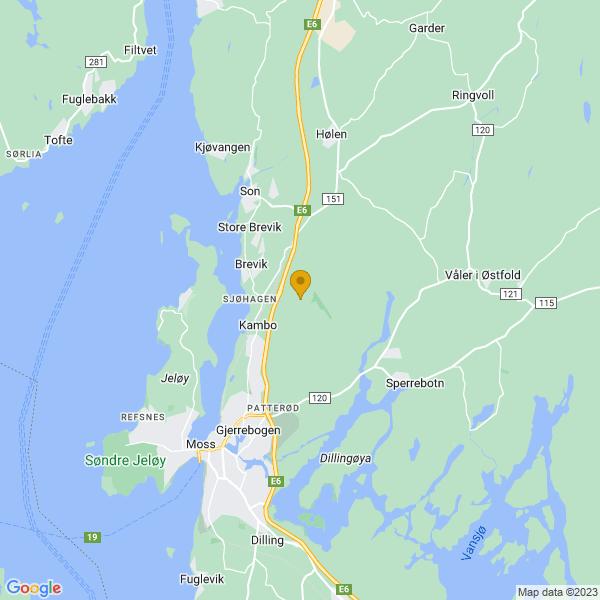 Google Map of 59.4859137,10.7234319