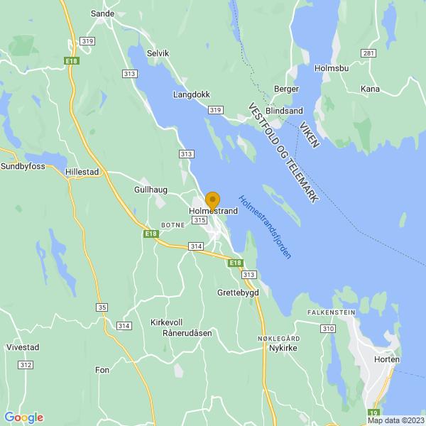 Google Map of 59.4891902,10.3145739