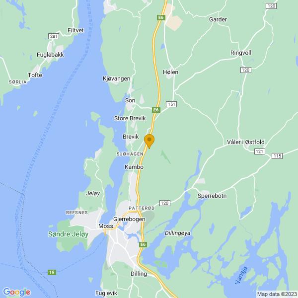 Google Map of 59.4897645,10.7153584
