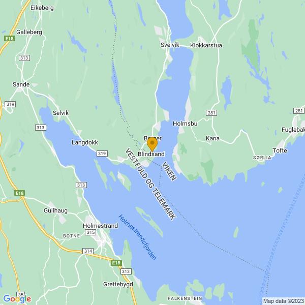 Google Map of 59.5403077,10.385415