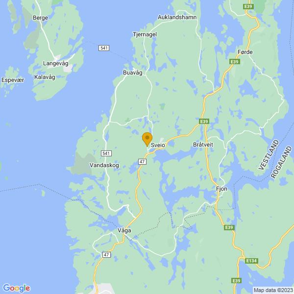 Google Map of 59.54200371468495,5.33818571275865