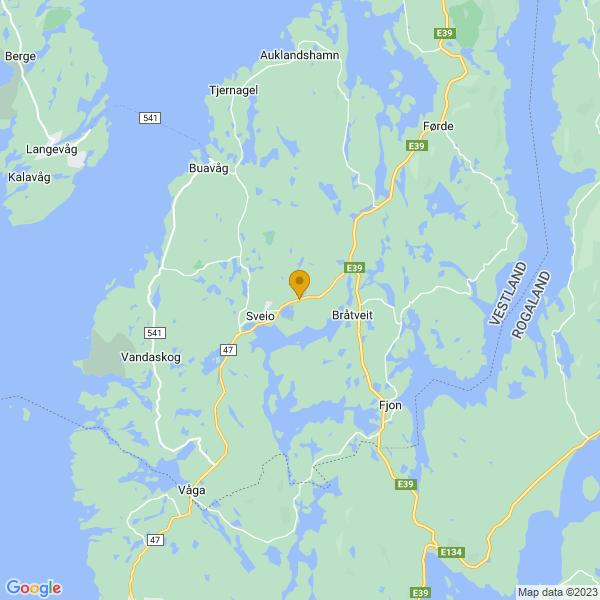 Google Map of 59.54892376733829,5.380249155116332