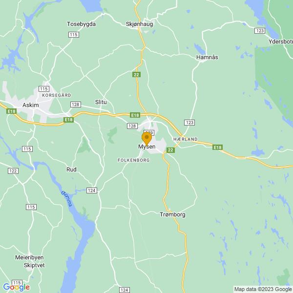 Google Map of 59.55378409999999,11.3257465