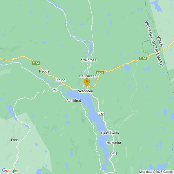 Google Map of 59.56429948188471,9.266774654388428