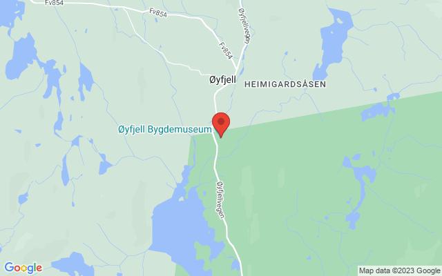 Kart over Øyfjellvegen 809, Vinje