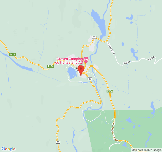 Kart over Biblioteket i Åmot