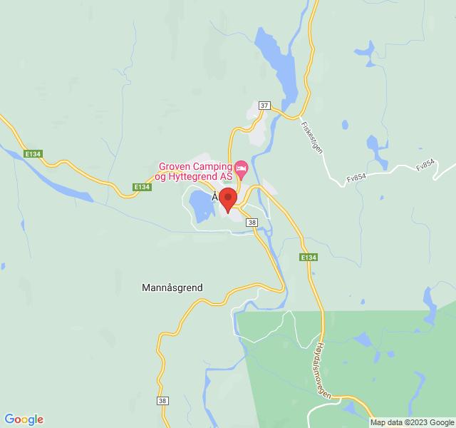 Kart over Trevet i Åmot