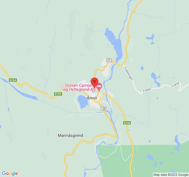 Kart over Vinjehuset