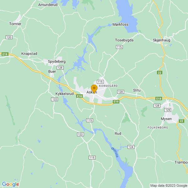 Google Map of 59.58140849999999,11.1676233