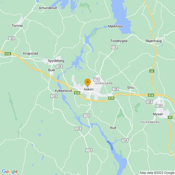 Google Map of 59.58532149999999,11.1601534