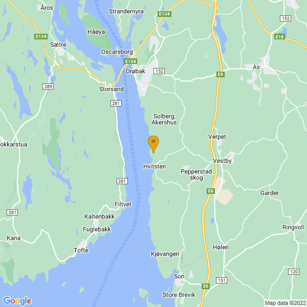 Google Map of 59.6074642,10.654476