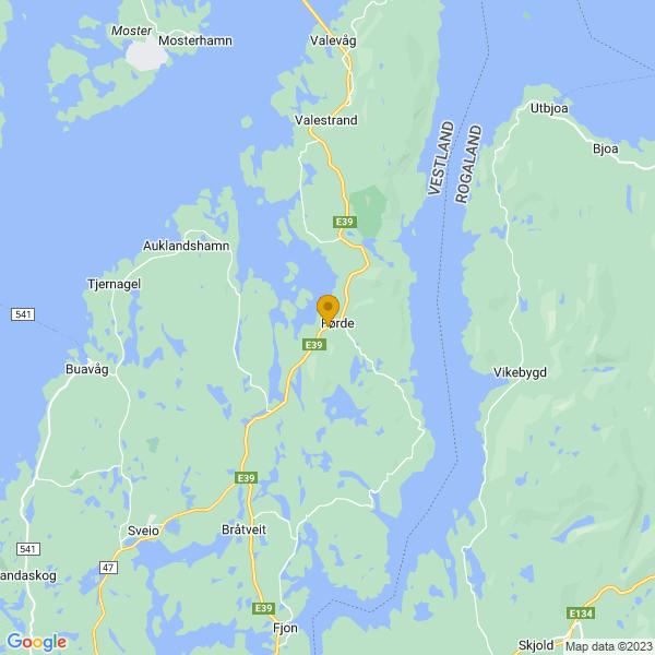 Google Map of 59.6079236,5.4691476
