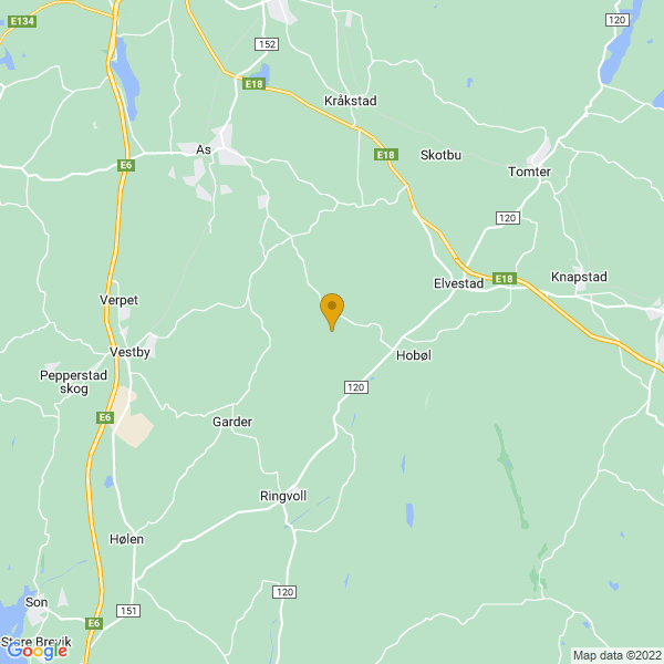 Google Map of 59.60875549999999,10.872429699999998