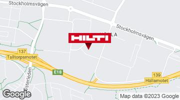 Få vägbeskrivning till Hilti-butik Västerås