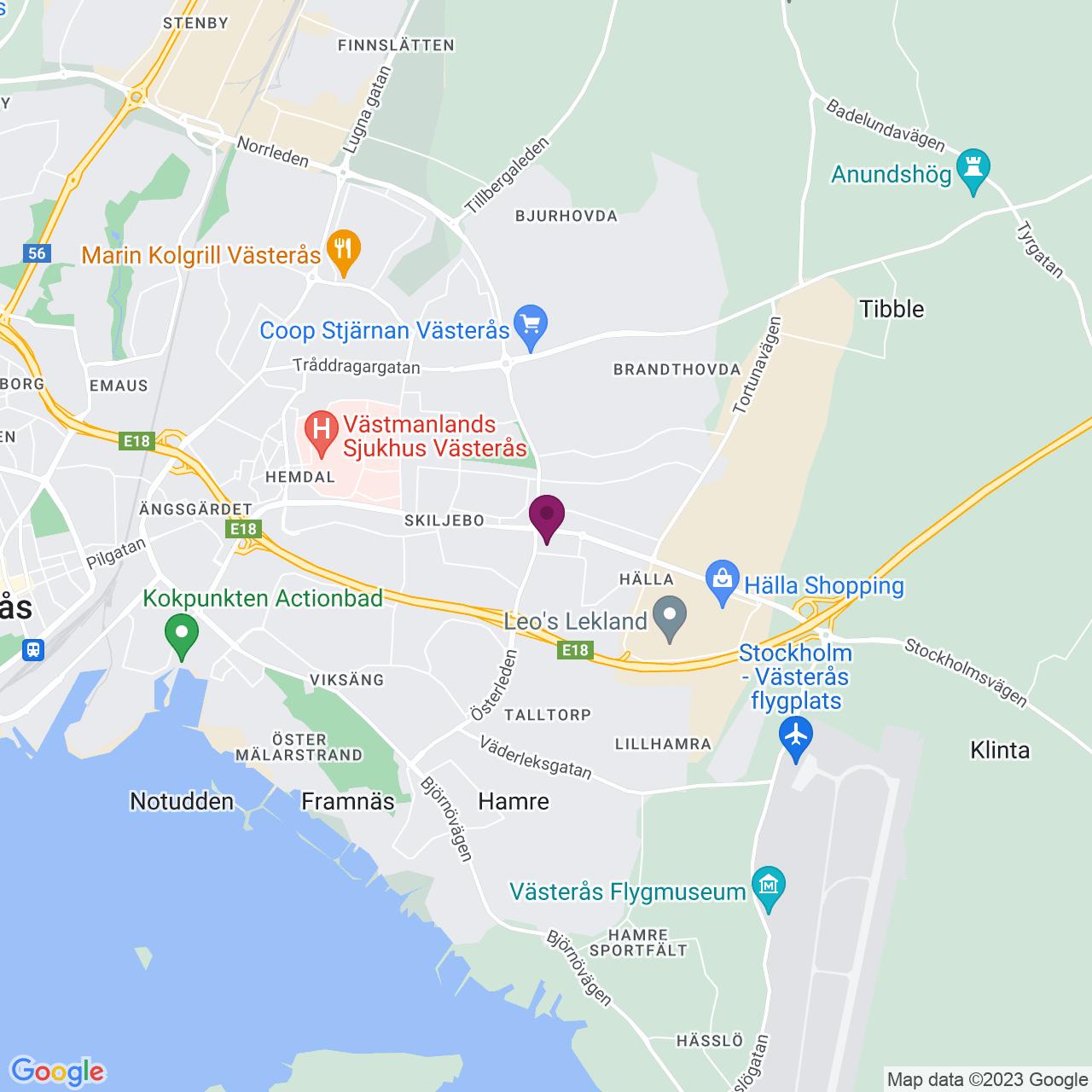 Karta över Tallmätargatan 1