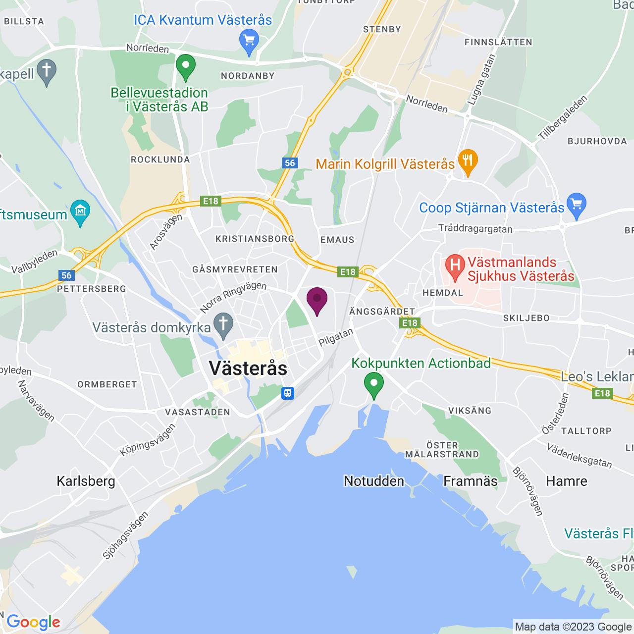 Kort över Legeringsgatan 18,Kopparlunden